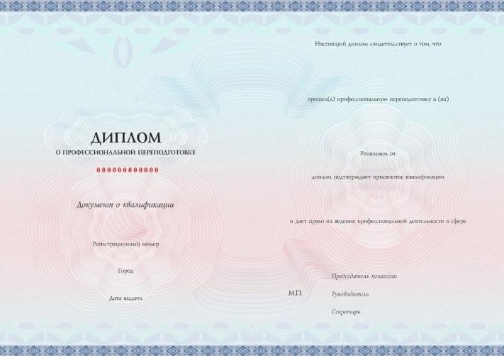 Диплом о профессиональной переподготовке с присвоением квалификации